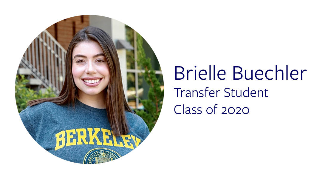 Brielle Buechler Transfer Student Class of 2020
